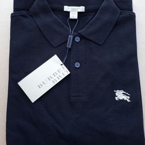 REGULAR FIT CASUAL BLACK COTTON POLO T-SHIRT NWT